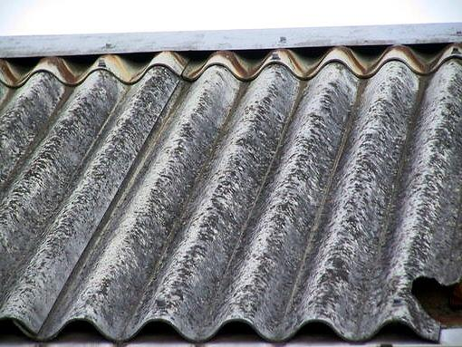 Ceramic surface of asbestos cement